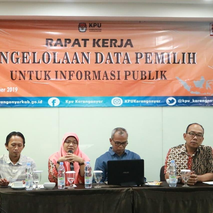 Rapat Kerja Pengelolaan Data Pemilih Untuk Informasi Publik (15-16/11/2019)