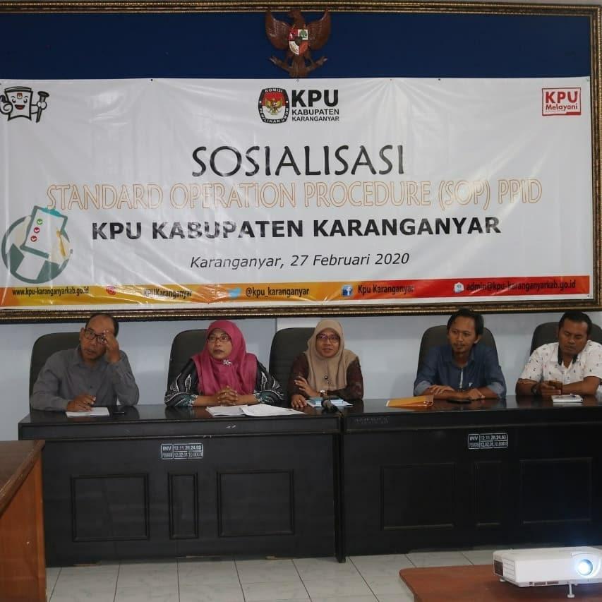 Sosialisasi Standart Operation Procedure (SOP) PPID KPU Kab. Karanganyar (27/02/2020)